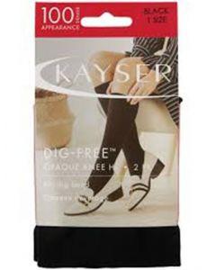Kayser 100 Denier Dig-Free Opaque Knee Hi 2 pairs pack