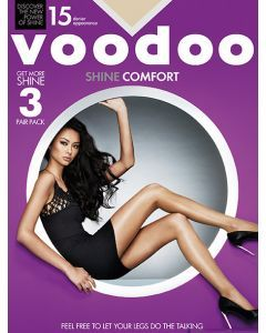 Voodoo Shine Comfort Brief Pantyhose 3 pair pack