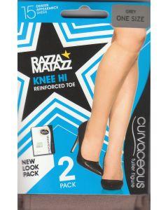 Razzamatazz Curvaceous Knee Hi 2 Pack