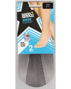 Razzamatazz Sheer Footlet 2 Pack