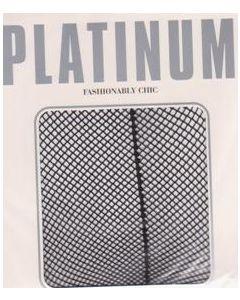 Platinum Fishnet Back Seam Tight