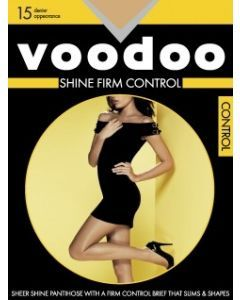Voodoo Shine Firm Control Single Pack Nightshade colour Pantyhose