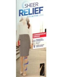 Sheer Relief Firm Compression Sheer pantyhose