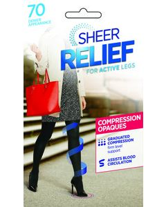Sheer Relief 70 denier Compression Opaque tight