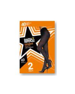 Razzamatazz 40 Denier Semi Opaque Tights 2 pair pack