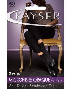 Kayser Microfibre Anklets (2 pair pack)