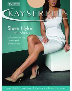 Kayser Plus Sheer Nylon Pantyhose Special colours