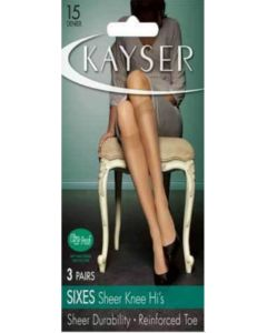 Kayser 6's Sheer Knee Hi Nearly Black One Size