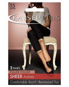 Kayser Plus Sheer Anklets (2 pair pack)