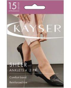 Kayser Sheer Anklets 2 Pair pack