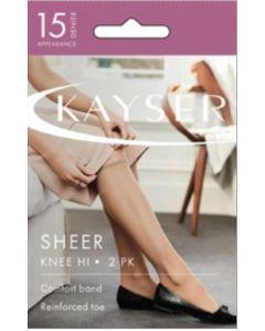 Kayser Silky Elastane Knee Hi 2 pair pack