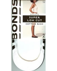 Bonds Super Low Cut Cotton Rich Footlets 2 pack