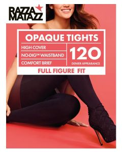 Razzamatazz 120 Denier Opaque Tights for Fuller Figure