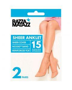 Razzamatazz 15 Denier Sheer Anklet 2 Pair Pack