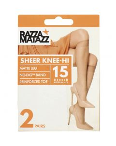 Razzamatazz Sheer 15 Denier Knee Hi 2 pair pack
