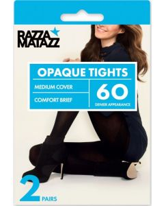 Razzamatazz 60 Denier Opaque Tights 3 pair pack