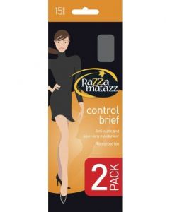 Razzamatazz Control Brief Pantyhose 2 Pair Pack