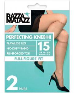 Razzamatazz Fuller Figure Perfecting Knee Hi 2 pair pack