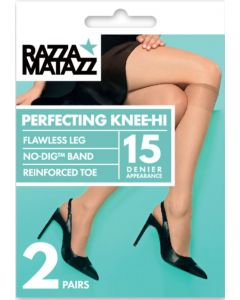 Razzamatazz Perfecting 15 Denier Knee Hi 2 pair pack