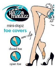 Razzamatazz - Mini Stepz Toe Covers - 2 Pairs