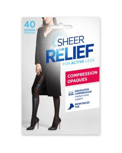 Sheer Relief Compression Opaque Tight