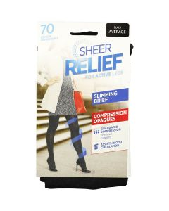 Sheer Relief 70 denier Slimming Compression Opaque tight