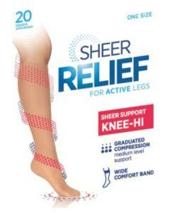 Sheer Relief Support Knee Hi