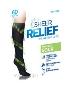 Sheer Relief 60 Denier Trouser Socks