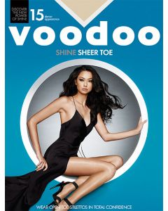 Voodoo Shine Sheer Toe Pantyhose