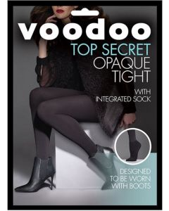 Voodoo Top Secret Opaque Tight with intergrated ankle sock